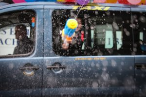 Water Pistol in Edinburgh Taxi